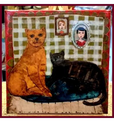 Kafelek z kotami-produkt polski
