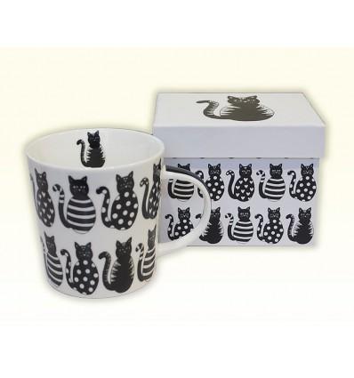 Porcelanowy kubek czarne koty, PPD