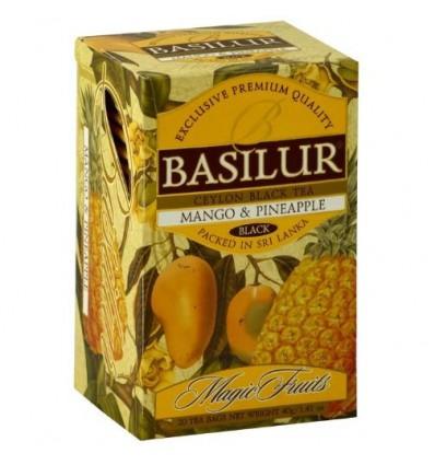Herbata czarna mango i ananas ekspresowa 20 szt - Basilur