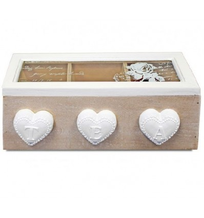 Rustykalne pudełko na herbatę, herbaciarka