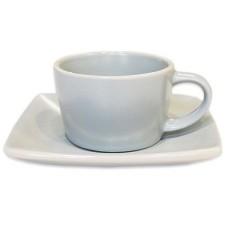Filiżanka beżowa z podstawką do espresso, Mikasa Creative Tops