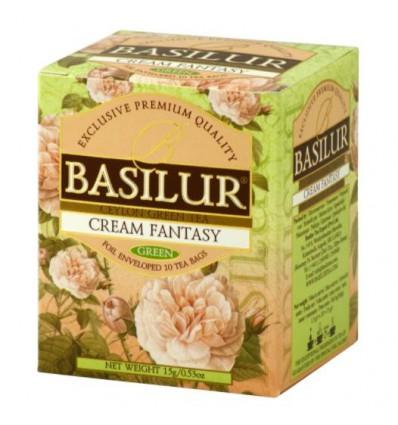 Herbata zielona Cream Fantasy truskawka, śmietanka, 10 szt saszetek Basilur