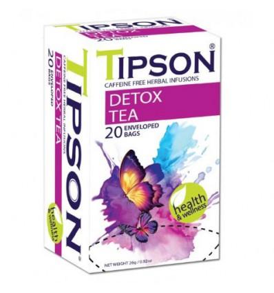 Herbata Tipson, Detox tea, 20 saszetek ekspresowych