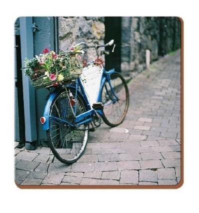 Podkładka z rowerem pod kubek, korkowa
