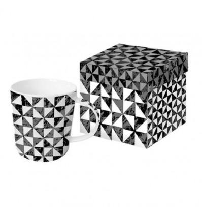 Porcelanowy kubek Palio geometryczne wzory, PPD, 380 ml