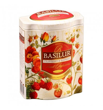 Herbata czarna truskawka kiwi, Basilur- puszka, 100 g
