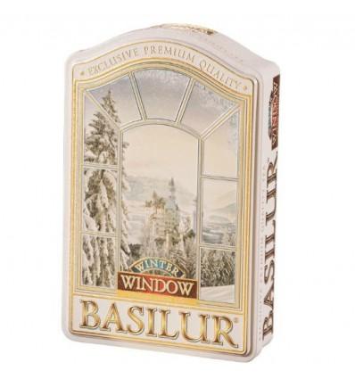 Herbata zielona jabłko, wiśnia, wanilia, Window, Basilur, puszka 100 g