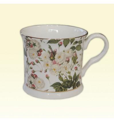 Porcelanowy kubek w białe kwiaty May Queen, 300 ml, Creative Tops