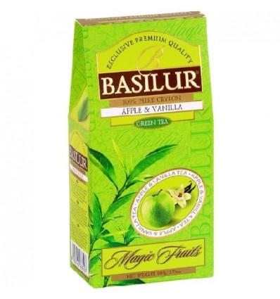 Herbata zielona jabłko, wanilia - Basilur, stożek 100 g