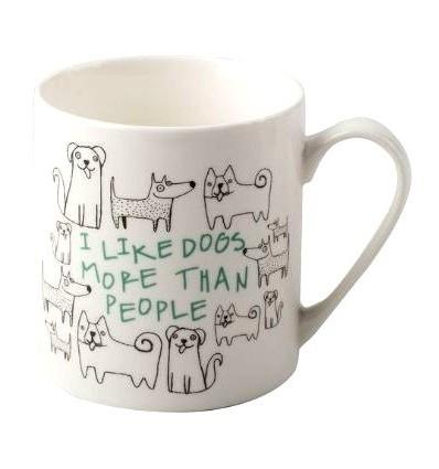 Porcelanowy kubek I Like dogs z pieskami, 300 ml, Creative Tops