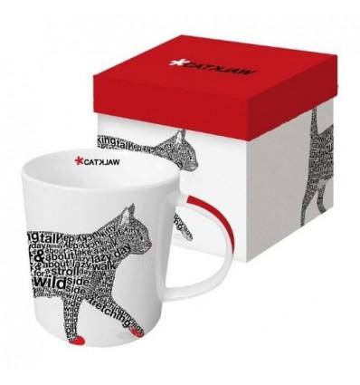 Porcelanowy kubek z kotem, 380 ml, PPD