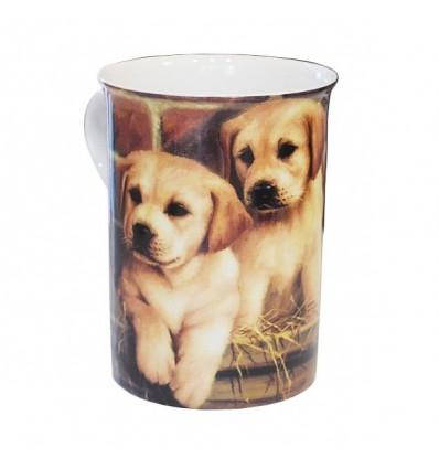 Porcelanowy kubek z labradorami, 235 ml, Creative tops
