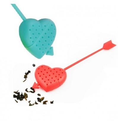Zaparzacz do herbaty, ziół - niebieskie serce