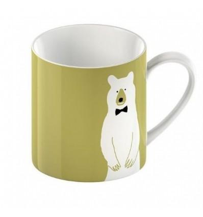 Porcelanowy kubek z misiem, niedźwiedź polarny, 300 ml, II gat