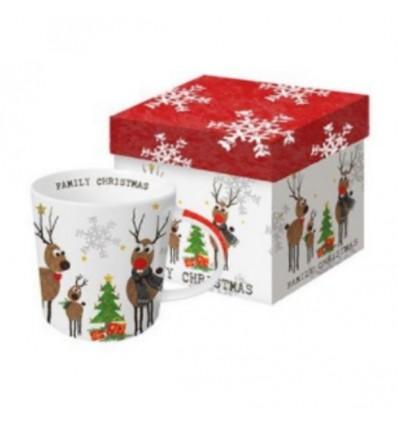 Kubek świąteczny z reniferami, 350 ml PPD