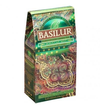 Herbata zielona Moroccan Mint mięta marokańsa, Basilur, stożek 100 g