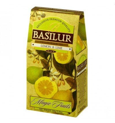 Herbata czarna cytryna, limonka, Basilur, stożek 100 g