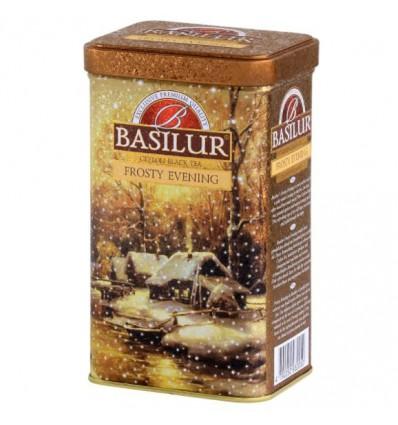 Herbata czarna Frosty Evening pomarańcza, mandarynka, Basilur puszka 85 g