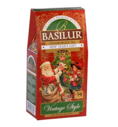 Herbata czarna, wiśnia, migdały, New Years Gift, Basilur stożek 85 g