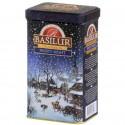 Herbata czarna Frosty Night, migdał, wanilia, róża puszka Basilur 85 g