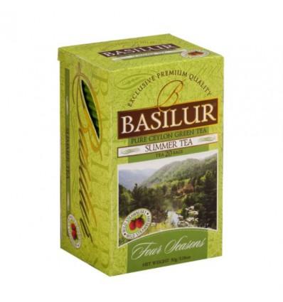Herbata zielona Basilur Summer Tea poziomka, 20 saszetek ekspresowych