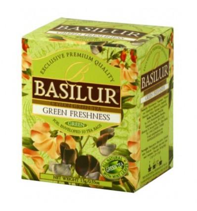 Herbata zielona Green freshness, mięta ekspresowa 10 szt - Basilur