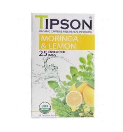 Herbata moringa z cytryną - Tipson, 25 saszetek