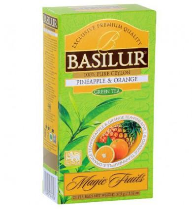Herbata zielona, ananas, pomarańcza - Basilur 25 saszetek