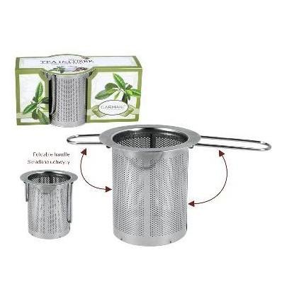 Zaparzacz do herbaty, ziół - sitko metalowe, Carmani