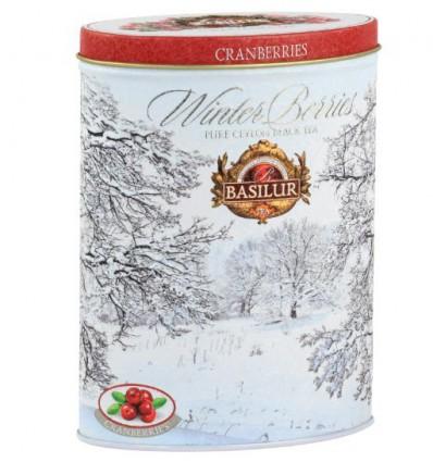 Herbata czarna Winter Stars, ananas, jeżyna, wanilia, Basilur puszka 75 g NOWOŚĆ