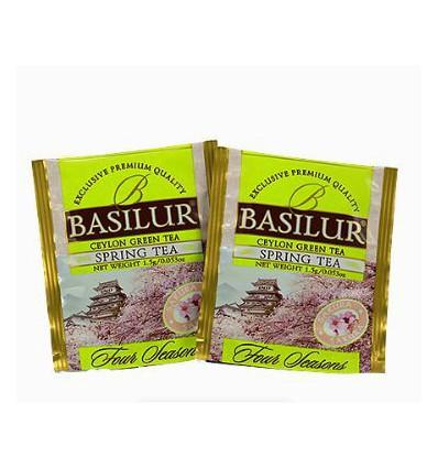 Herbata zielona Spring, wiśnia, pomelo saszetki 10 szt - Basilur
