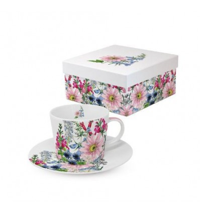 Porcelanowe kubki kwiaty, komplet 2 szt, 350 ml, PPD