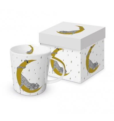 Porcelanowy kubek z kotem i wieżą Eiffla, 350 ml, PPD