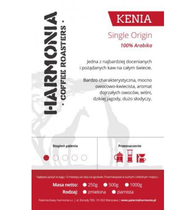 Kawa Kenia AA Single origin 100 % arabika, mielona 250 g