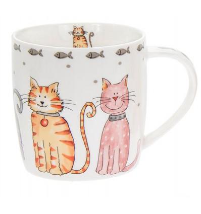 Porcelanowy kubek z kotkiem Lesser & Pavey