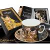 Porcelanowe filiżanki 2 szt. G. Klimt Pocałunek, 250 ml, Carmani