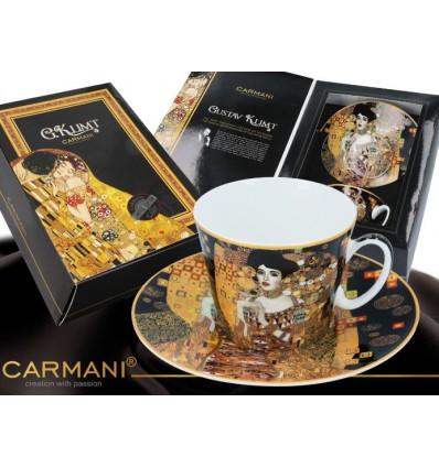 Porcelanowa filiżanka. G. Klimt Pocałunek, 250 ml, Carmani
