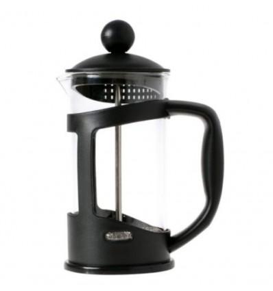 Tłokowy zaparzacz do herbaty, kawy, french press seledynowy z sercem -800 ml