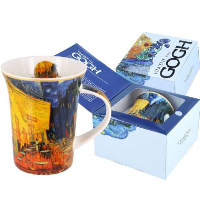 Kubek porcelanowy Gwiaździsta noc Vincent van Gogh, 400 ml, Carmani