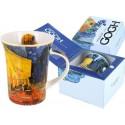 Kubek porcelanowy Tarasy kawiarni nocą Vincent van Gogh, 400 ml, Carmani