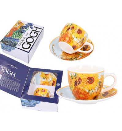 Porcelanowa filiżanka espresso Irysy van Gogh, 80 ml, Carmani